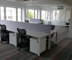 Office funiture Colchester white desks and executive chairs office refurbishment